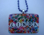 Candy Necklace, Pendant, Custom, Name, Handmade, Resin