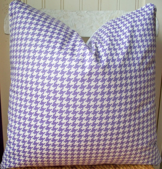 Purple Check Pillow Cover Purple Gingham Pillow Houndstooth Lavender Lilac 16 18 20