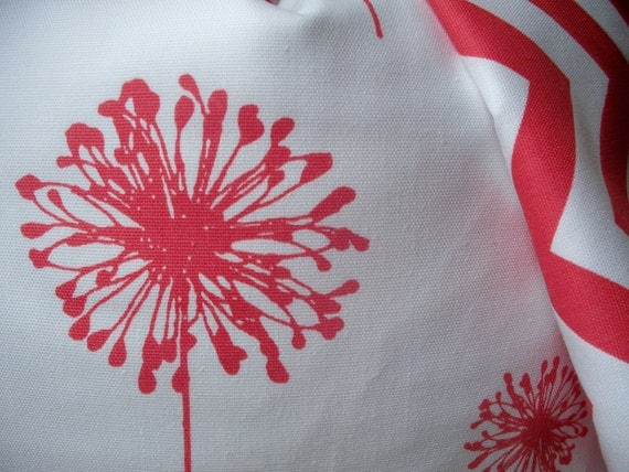 Items similar to Decorative Pillow Cover Pink Coral Floral Watermelon Dandelion 18X18 on Etsy