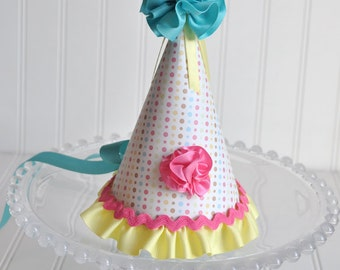 Girls Cheerful Birthday Party Hat