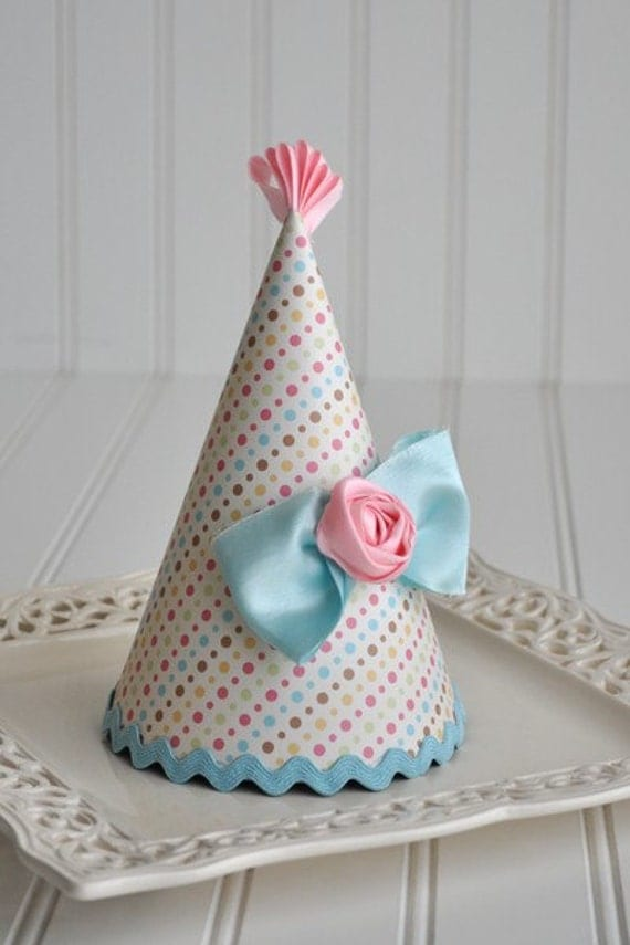 Girly Bow Birthday Party Hat