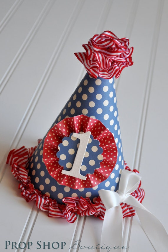 Vintage Carnival Birthday Party Hat