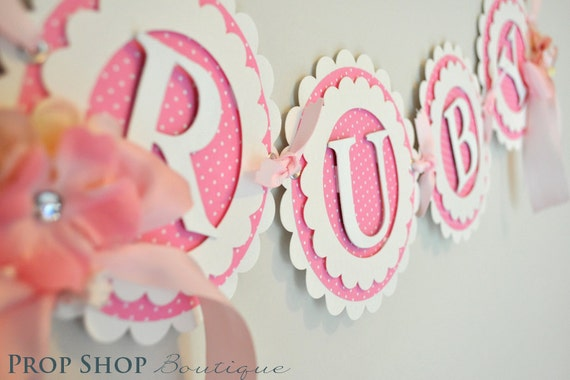 The Works Birthday Banners, Special Occasion, name banner, nursery decor, photo prop