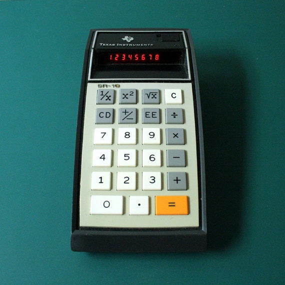 Texas Instruments SR-10 calculator - with case
