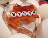 Real BACON resin pendant