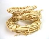 """3 vine craft mini wreaths, light natural wood, 6-7"""""""