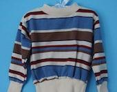 80s Stripe Happy Sweater