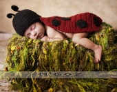 Crochet Costume - PDF Pattern - The Lady Bug outfit for newborn baby - Photo Prop or Baby Shower Gift