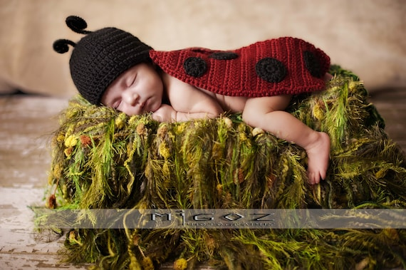 Crochet Costume PDF Pattern The Lady Bug outfit for