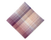 purple, pink, white gradient cotton pocket square