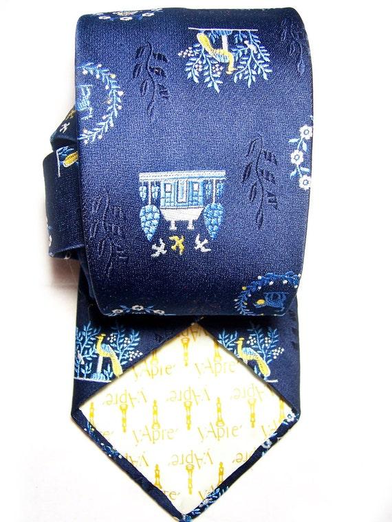 Vintage men's tie, Valentine's French romance