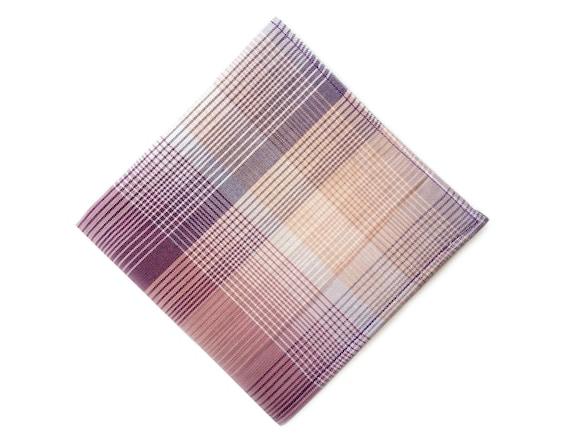 Last chance to buy: Purple, pink, white gradient cotton pocket square