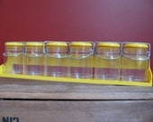 1960s Vintage Mason Jar Spice Rack IN BOX