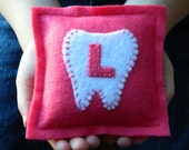 Monogrammed Felt Tooth Fairy Pillow