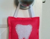 Felt Tooth Fairy Pillow with Ribbon Hanger