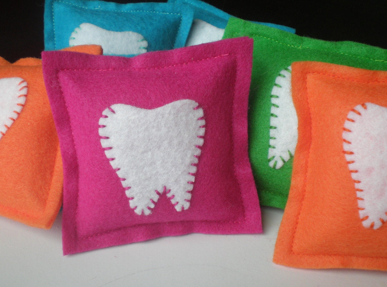 Felt Tooth Fairy Pillows by LittleBirdieandMe on Etsy