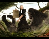 Thomas Jefferson Battling a Gorilla Limited Print