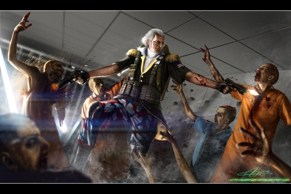 George Washington Zombie Hunter *various sizes available*