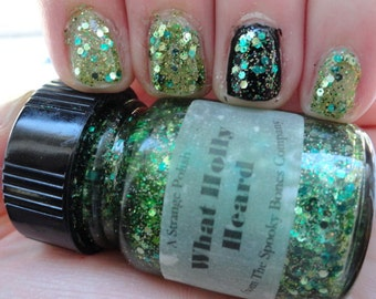 What Holly Heard Fear Street Series Nail Polish Lacquer Green Holographic Glitter Glow in the Dark