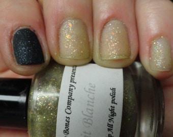 Nuit Blanche White Night Nail Polish Lacquer Soft Yellow Flake Glitter