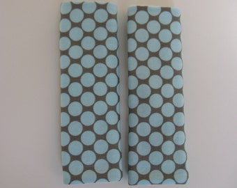 Amy Butler Polka Dot Slate Car Seat Strap Covers