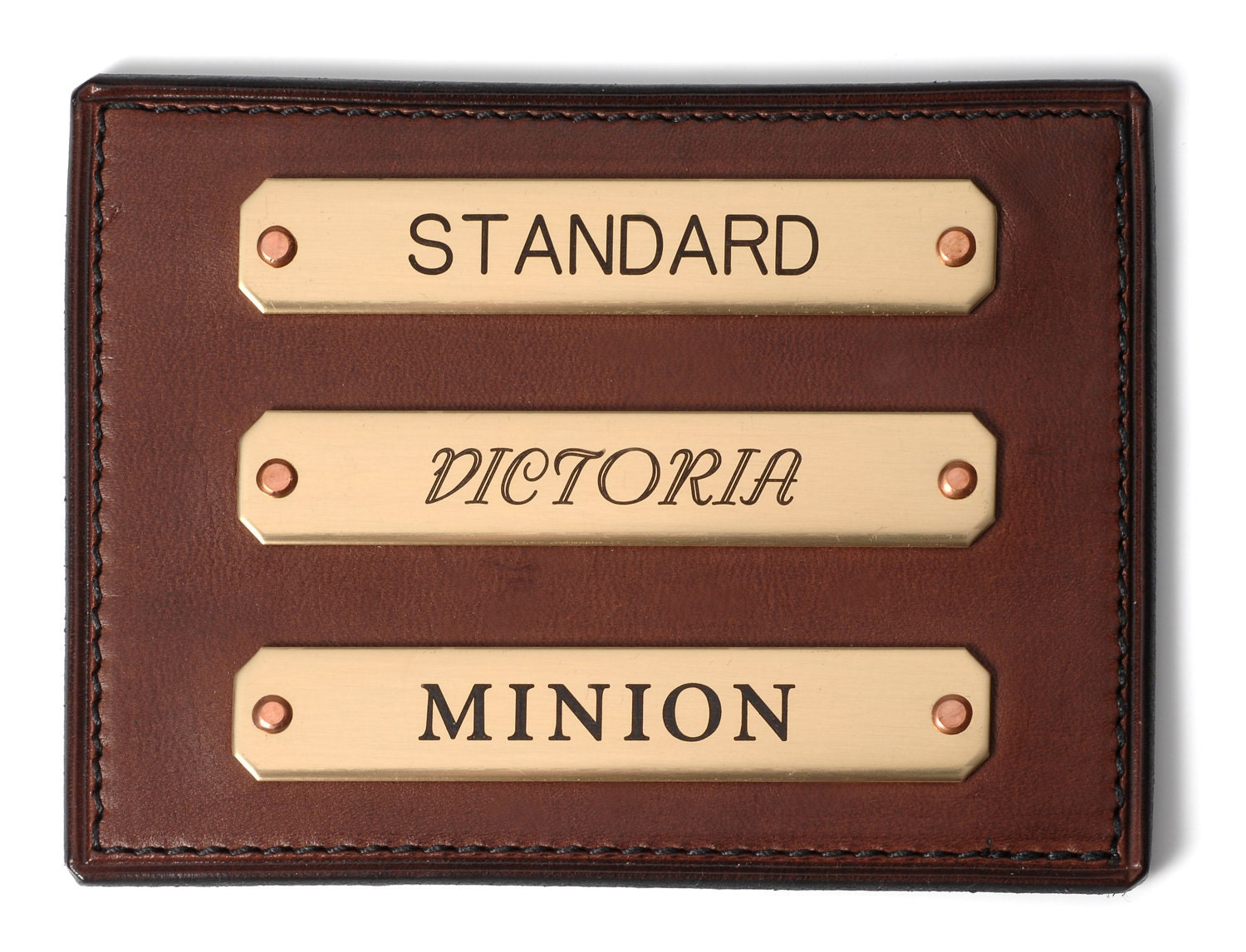 Brass Name Plates by KentuckyLeather on Etsy
