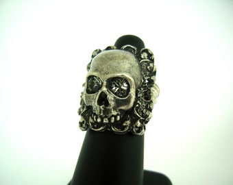 Square Filigree Skull