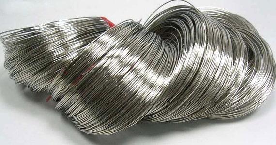 75 circles , Steel Bracelet Memory Wire 5.5CM, Nickel Color, Wire: 0.6mm