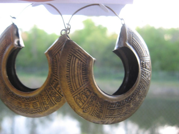 Vintage Egyptian Bronze  Earrings Free Shipping in the USA