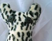 SALE Leopard fleece bear plush toy, emo, children, gift
