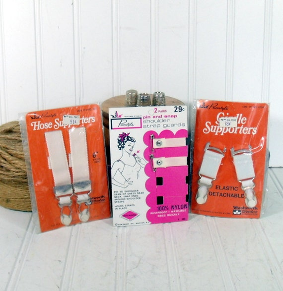 Woolworth Vanity Notions Collectibles - Vintage 3 Primstyle Original Packages - For Repurposing