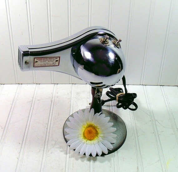 Professional Blow Dryer - Vintage Beauty Equipment - Chrome Metal Finish