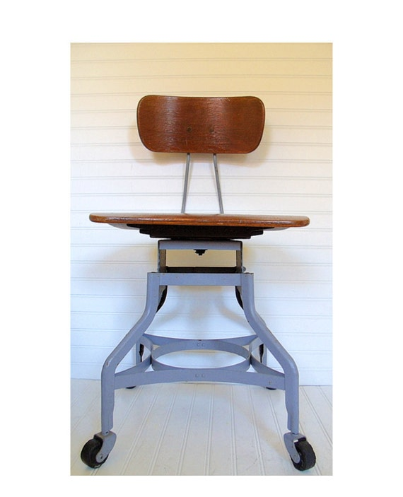 Toledo Machinist Chair Vintage Toledo Metal Furniture Co