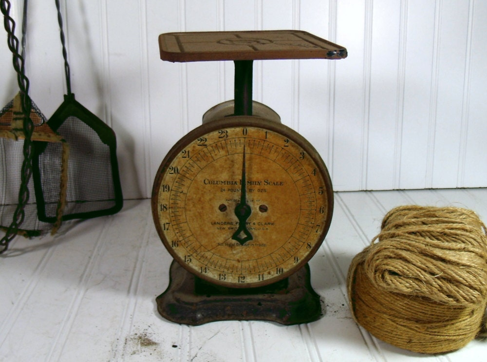 Crusty Rusty Columbia Family Scale Vintage Patent 1907 All