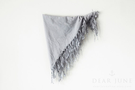 FRINGES LIGHT - square cotton scarf with fringes. Hand dyed. Oversized, lightweight wrap, shawl. Fashion, women accessories. Valentine's