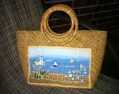 Summer vintage Straw purse