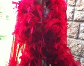 1970s Frederick's of Hollywood marabou feather robe