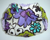 FLOWER POWER Newborn Cloth Diaper Cover with snap in Insert