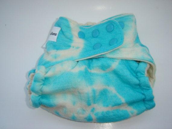 BLUE HAWAIIAN Tie-Dyed 100% Wool Shorties Soaker Wrap One Size