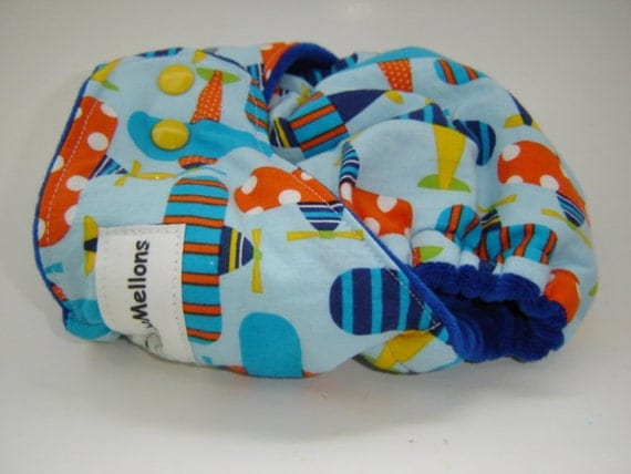 Band-aid PLANES One Size Cotton Hemp Fitted Cloth Diaper