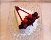 RESERVED FOR LINDA - Berry Wedding Cake Slice
