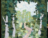 Path into the Garden Quilted Wallhanging