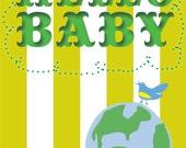 Hello Baby Original Design Congratulations Card