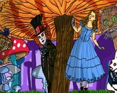 5x7 Alice in Wonderland Hide and Seek Fanart Print