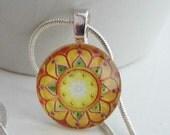 Mini Sunshine Medallion Pendant with Free Snake Chain