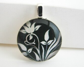 Floral Silhouette Pendant with Free Necklace