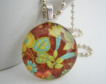 Leaves Pendant with Free Necklace