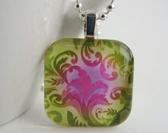 Scrolls Pendant with Free Necklace