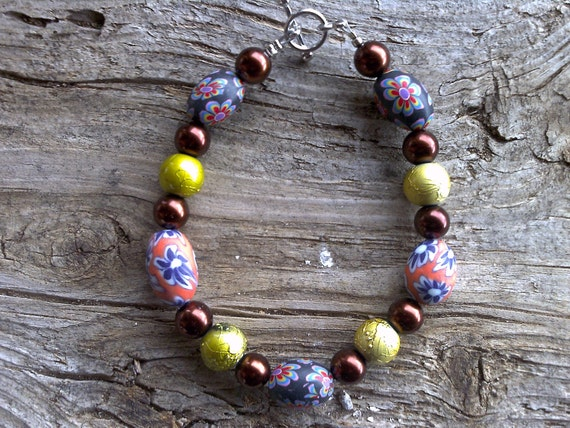 misc. beaded bracelet 7 1/2 inch