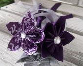 Paper Flower Girl Wand - Origami Flowers - Kusudama